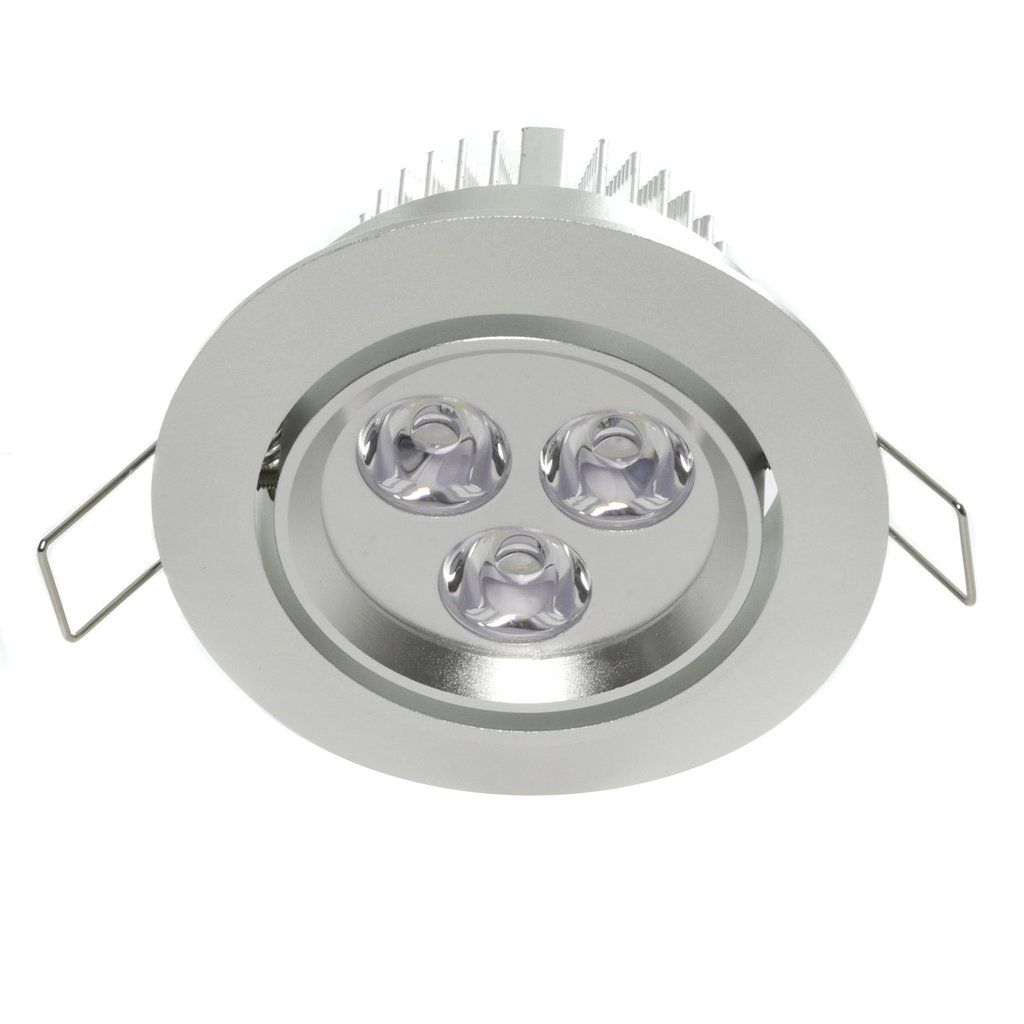 "3.5"" LED Recessed Light for Flat or Sloped Ceilings - Standard Bright (3W)"