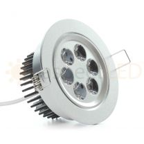 """NSF Certified 4.2"""" LED Recessed Light for Flat or Sloped Ceilings - 6 LED (6W)"""