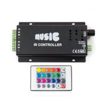 Sound Activated LED Music Controller with Remote for RGB Lights