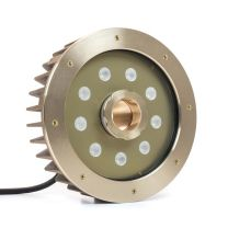 Wet/Dry RGB+White (RGBW) Underwater/Submersible Fountain Nozzle Ring Light (36W) - 24VDC